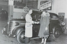 "12 By 18"" Black & White Picture 1938 Chevrolet Sedan in Service department"