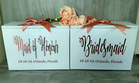 Bridesmaid Wedding Dress Travel Box,Personalised,Smaller Luggage Box