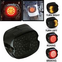 Smoke Lens LED Tail Light Brake Turn Signal For Harley Tour Road King Glide Dyna
