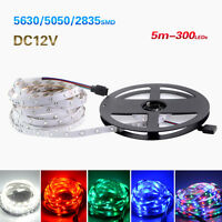 5M 300LED SMD 3528/5050/5630 RGB / luz de tira flexible blanca / remoto / fuente