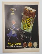 Original Print Ad 1955 MARS BAR Chocolate Toasted Almond