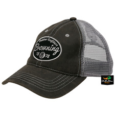 NEW BROWNING FOLSUM MESH BACK SNAPBACK HAT BALL CAP CHARCOAL BUCKMARK LOGO