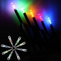 LED Lighted Arrow Nocks Tail For Crossbow Archery 5.3mm Shaft Automatically