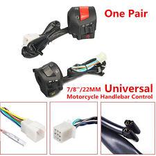 Pair Universal 7/8'' Motorcycle Handlebar Horn Turn Signal Light Control Switch