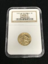 1992 W $5 Columbus Commemorative Gold Coin NGC MS70