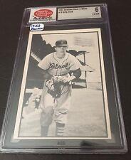 BILLY HOEFT 1953 Bowman Baseball B&W Card #18 Graded SCD 6 EX/NM Detroit Tigers