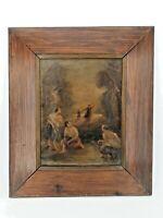 XIX ème s, scène animée, huile sur toile, monagrammée et datée 1890
