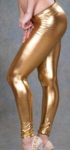 Womens Gold Leggings Size 8-10 NEW
