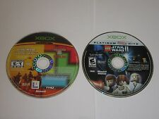 Xbox - Lot Of 2 Star Wars Games - Clone Wars, Lego Star Wars II - Disc Only