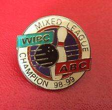 WIBC Bowling Pin , Metal/Enamel - Vintage 1998/99
