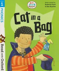 Biff, Chip and Kipper: Stage 1 Read with Oxford Phonics - CAT IN A BAG - New