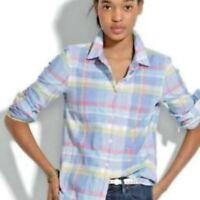 Madewell Women's Madras Plaid Button Down Boy Shirt Multicolor Size M