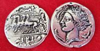 Ancient Greek Coin , 10 Drachmas , Goddess Artemis