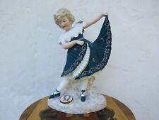 """August Antique Gebruder Heubach Dancing Girl Bisque Piano 15.5"""" Figurine, c.1890"""