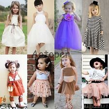 Flower Girl Summer Princess Dress Kid Party Pageant Wedding Tutu Dresses Clothes