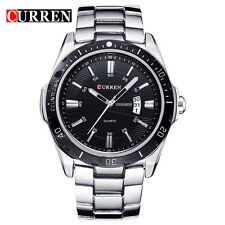CURREN 8110 Luxury Brand Military Men Sports Wrist Watch Full Steel Auto Date