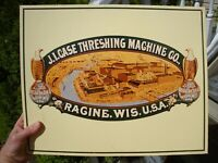 J I Case Threshing Machine Co Racine Wis USA Metal Sign Vintage Farm Equip Rare