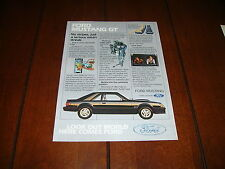 1983 FORD MUSTANG GT    ***ORIGINAL AD***