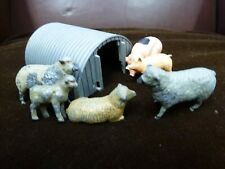 Vintage hollow lead Britains Made in England pig pen & sheep farm figures Toy