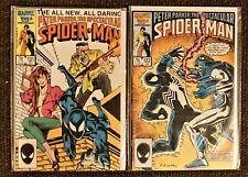 The Spectacular Spider-Man #121 &122 (1986/87 Marvel) Lot of 2 Black Costume VG+