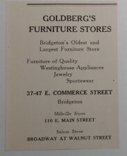 1948 Goldberg's Furniture Stores Advertisement Bridgeton NJ