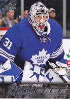 15-16 Upper Deck Garret Sparks Young Guns Rookie Maple Leafs 2015