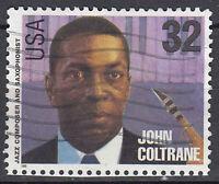 USA Briefmarke gestempelt 32c John ColtraneJazz Composer Saxophonist / 2777