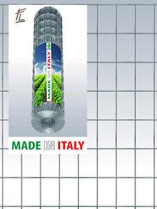 RETE METALLICA ZINCATA RECINZIONE GABBIE ELETTROSALDATA MAGLIA 5x7,5cm H.200 cm