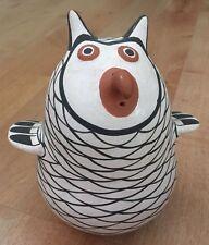 Acoma Pueblo Pottery Native American SARAH GARCIA Polychrome OWL SIGNED figurine