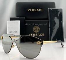 dbe2e4b1433bbf Versace GLAM MEDUSA VE2161 Sunglasses Gold Frame Silver Mirror Lens 1002/6G