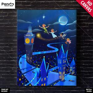 Peter Pan Poster Canvas Disney Kids Movie Poster Art Print (60x75cm/24x30in)