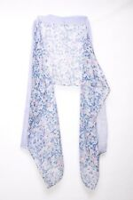 Blue Pink Dots & Small Flower Print Casual Wear For A Young Lady Scarf (S106)
