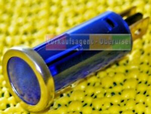 12 Volt, 1,2 Watt Kontrolllampe mit Chromrand, Blau