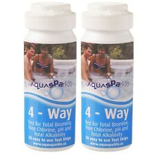 More details for 2 x 4 way bromine test strips (x100) aquasparkle hot tub spa pool water testing