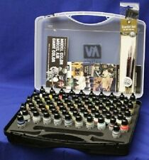 VALLEJO 71170 Model Air Paint Set 72 Colors 3 Brushes Storage Case FREE SHIPPING