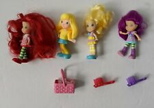 """Hasbro 3"""" Strawberry Shortcake 2008 Dolls character toy lot and accessories"""