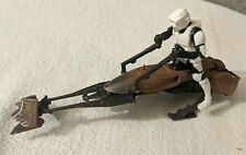 1995 Star Wars The Power Of The Force Imperial Speeder Bike With Biker Scout