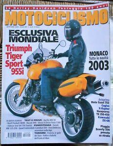 MOTOCICLISMO 9 02 GUZZI 750 CAGIVA HUSQVARNA SAARINEN PIAGGIO APRILIA DUCATI 999