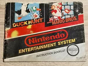 Super Mario Bros.Duck Hunt Nintendo Nes ( Manual Only)