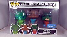 Funko Pop 3 Pack Star Wars Greedo Hammerhead Walrus Man Walmart Exclusive