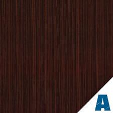 Pellicola Adesiva Mogano Scuro Opaco larg. 122 cm AL METRO LINEARE effetto legno