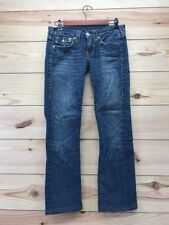 True Religion Womens Billy Jeans Sz 27 Flap Pocket Contrast Stitch Straight B24