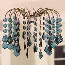 Tear Drop Chandelier Ceiling Pendant Light Shade Acrylic Crystal Bead - Aqua Gre