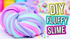 4x Fluffy Slime Masilla Unicornio Slime alivio de tensión Juguete AMSR ADHD