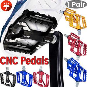 1 Paar Mountainbike-Pedale Flache Plattform Aluminiumversiegelte Lagerpedale