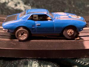 RUNNING RARE AURORA THUNDERJET XLERATOR BLUE BLACK FIREBIRD HO SLOT CAR NO. 2742