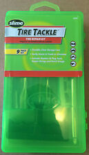 SLIME 20133 9 PIECE TIRE TACKLE TIRE REPAIR KIT! BRAND NEW PLUG reamer tools etc