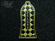 """Diamante"" DELUXE 3-Hole Truss Rod Cover (Gold). Fits most Epiphone and others."
