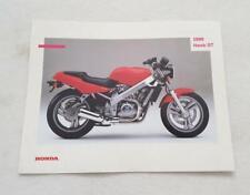 HONDA HAWK GT NT650 Motorcycle Sales Specification Leaflet AUG 1988