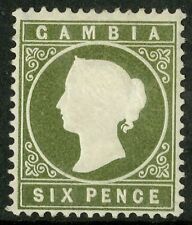 Gambia   1886  Scott # 18a  Mint Hinged